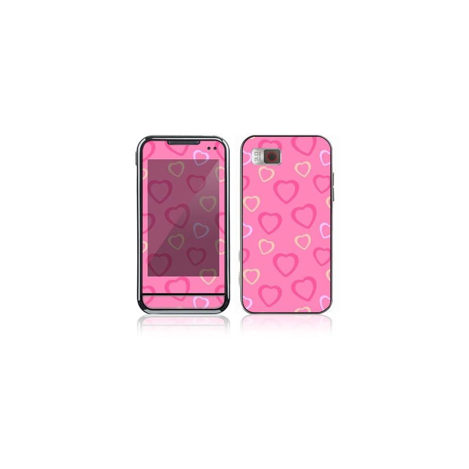 Samsung Eternity (SGH A867) Decal Skin   Pink Hearts