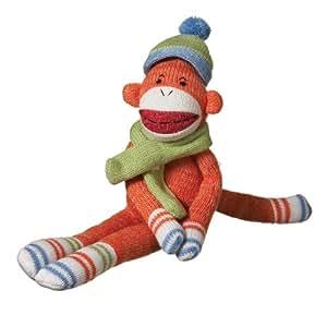 MVP Brands Rusty Plush Sock Monkey, Orange, Small