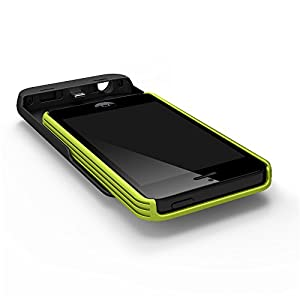 Tylt Energi Sliding Power Case for iPhone 5/5S - Retail Packaging - Green