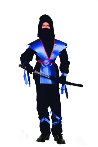 RG Costumes 90139-BL-S Ninja Master - Blue Costume - Size Child-Small