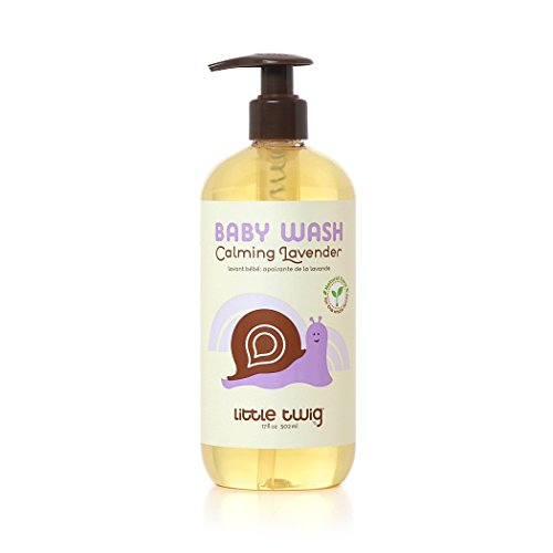 Little Twig All Natural, Hypoallergenic Baby Wash with a Blend of Lavender, Lemon, and Tea Tree Oils, Calming Lavender Scent, 17 Ounce Bottle