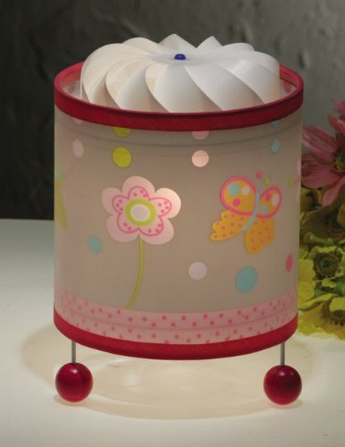 Butterfly & Flower Childrens Magic Nursery Table Lamp