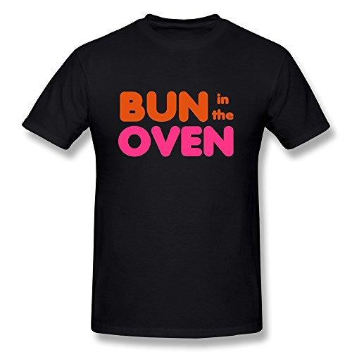 Nasy Men'S Bun Oven Cotton Short Sleeve T Shirt S Black