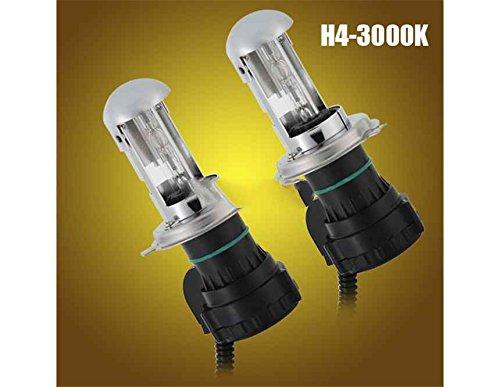 Generic 2Pcs 12V 35W H4-3000K Auto Car Headlight Hid Xenon High/Low Beam Bulbs (Silver)