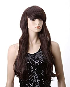 """Cool2day 25"""" Sexy Long Wave Hair Party Wig+wig Cap (Model: Jf010246) (Dark Brown)"""