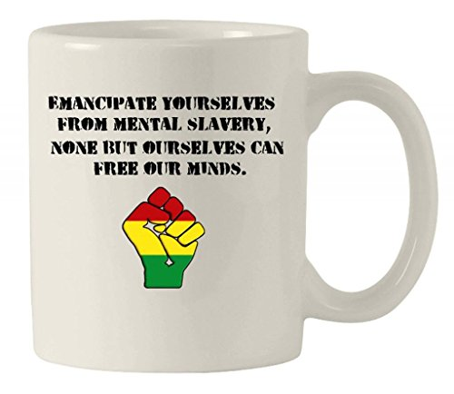 Emancipate Yourselves' Bob Marley Redemption Song Ceramic Mug by Tribal T-Shirts