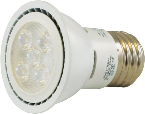 Liteline P16Led6W-40K-Wh Par16 Led Bulb, 120V, 6W, 4000K