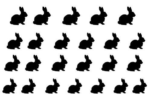 Facile a utiliser d'art d'ongle transfert autocollants Rabbit / Lapin