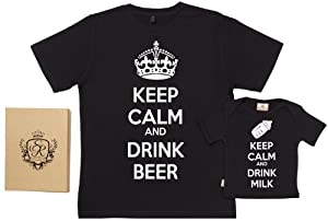 Spoilt Rotten - Keep Calm And Drink Milk & Beer - 100% Bio-algodón - Dad & Baby de Spoilt Rotten - BebeHogar.com