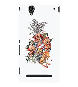 EPICCASE Funny family Mobile Back Case Cover For Sony Xperia T2 (Designer Case)