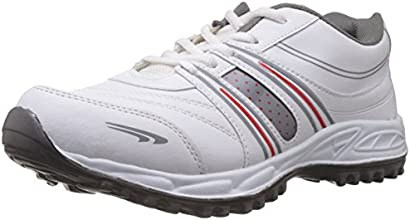 A-Star Men's White and Grey Running Shoes - 8 UK (A-61)