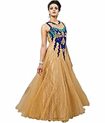 Sanjana Design Women's Georgette western chiku gown ( KS7292_Free Size_chiku)