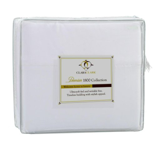 Why Should You Buy Clara Clark Premier 1800 Series 3pc Duvet Cover King Size, White