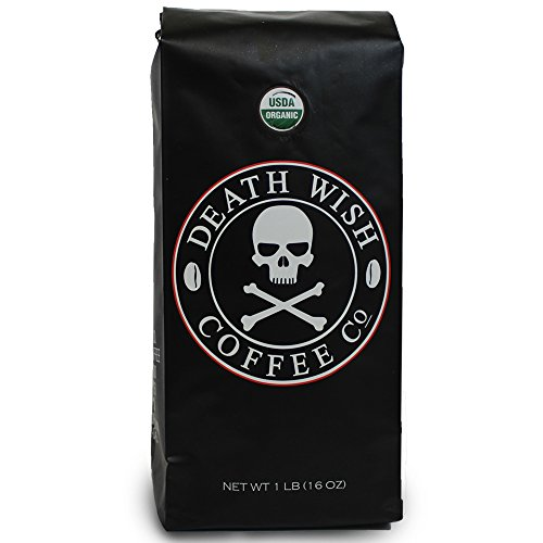 Death Wish Coffee, The World's Strongest Ground Coffee Beans, Fair Trade and Organic, 16 Ounce Bag Review