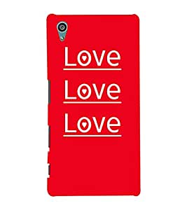 Love Love Quotes Cute Fashion 3D Hard Polycarbonate Designer Back Case Cover for Sony Xperia Z5 :: Sony Xperia Z5 Dual