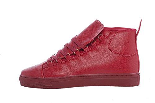 Sneakers Scarpe Alte Donna Mod. Pitonato Moda Glamour ( 39 : SUOLA 24.5 cm, Rosso)