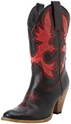 Very Volatile Women\'s Rio Grande Boot,Black/Red,6 B US