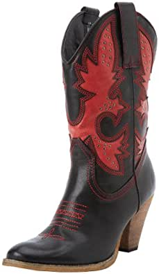 Very Volatile Women's Rio Grande Boot,Black/Red,6 B US