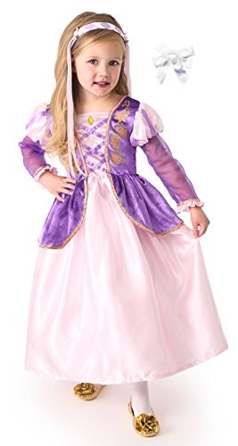 Little Adventures 10007 Rapunzel Satin Dress Costume size 3-5 with Hairbow