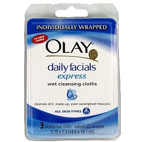 Olay Daily Facials Express Wet Cleansing Cloths 3-Count (Pack Of 24) front-1036375