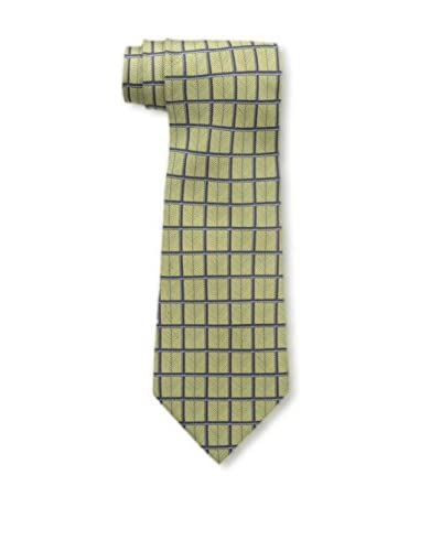 Hermès Men's Pre-Owned Patterned Silk Tie, Gold