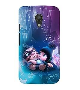 EPICCASE Cute dad & baby Mobile Back Case Cover For Moto G 2nd Gen (Designer Case)