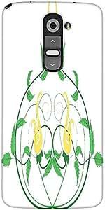 Snoogg Decorative Flourish Frame Designer Protective Back Case Cover For LG G2