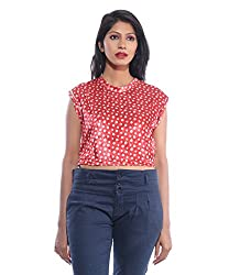 Avakasa Cotton Red Tops (ctop-07-red)