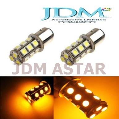 Jdm Astar 18-Smd 1157 2357 7528 Led Turn Signal Light Replacement Bulbs, Amber Yellow