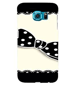 PrintVisa Girly Bow Design 3D Hard Polycarbonate Designer Back Case Cover for Samsung Galaxy S6 Edge