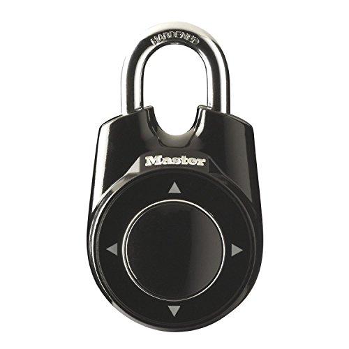 Master-Lock-Elektronisches-Vorhngeschloss-eOne-mit-Kombination-fr-Umkleidekabinen-Spinde-im-Fitness-Center-oder-in-der-Schule-schwarz-55-mm