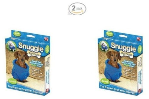 """As Seen On Tv"" Snuggie For Dogs - Pack Of 2 Small (Blue)"