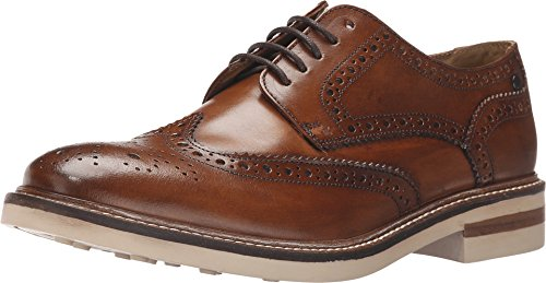 Base London Apsley Mens Accent pelle scarpe Derby Tan, Marrone (marrone), 46 eu