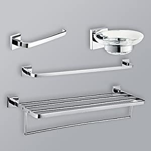Fantastic  Chrome Bathroom Hardware Set Contemporarybathroomaccessorysets