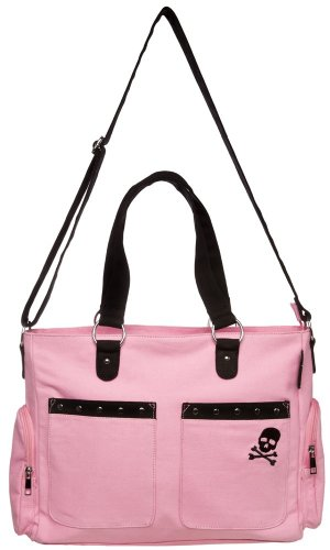 Pink Canvas Studded Diaper Bag from Sourpuss Clothing - 1