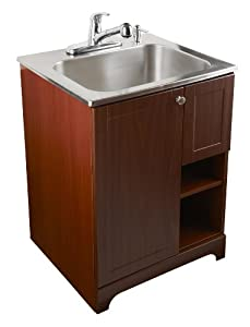 103030 All-In-One Stainless Steel Utility Sink with Cherry Cabinet ...