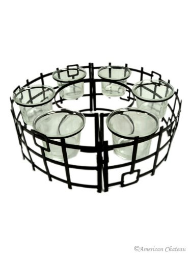 Iron Around Patio Table 6-Candle Holder / Centerpiece