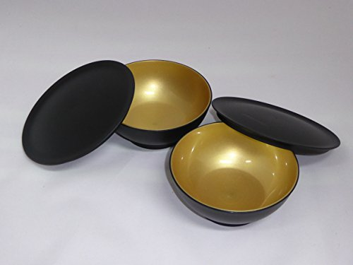 tupperware-2-x-allegra-dessert-schalchen-275-ml-c156-in-gold-schwarz