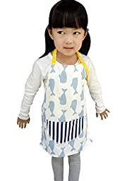 CRB Toddler Little Girls Boys Baking Bakware Cute Chef Baking Top Apron with Pocket (2T to 3T, Style #3)