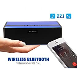 SRB Royall Blue High Quality Dual Channel SOMHO S323 Speaker with Bluetooth, NFC, FM, microsd Slot, aux in Supported Devices Universal Smartphones OnePlus X Nokia N1 Pad, Macbook, Letv Smartphone(1pc), Apple New Macbook 12 inch, OnePlus Two, Google Nexus 5X, Nexus 6P, Pixel C Google Nexus Oppo. (Blue)