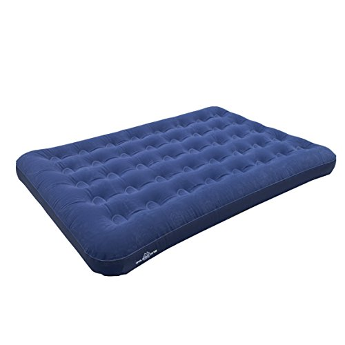 colchon-de-aire-doble-flocado-milestone-camping-azul