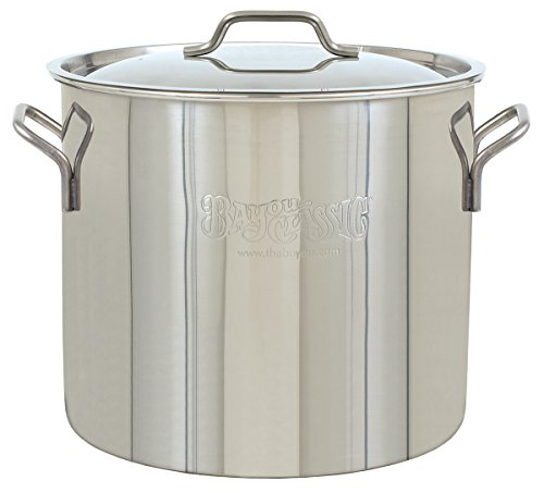 Bayou Classic Brew Kettle, 20 quart, Stainless Steel (Stainless Steel Kettle 5 Gallon compare prices)
