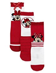 3 Pairs of Minnie Mouse Socks