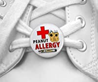 PEANUT ALLERGY EpiPen Medical Alert Pair of 1 inch Shoe Tag Charms by Creative Clam