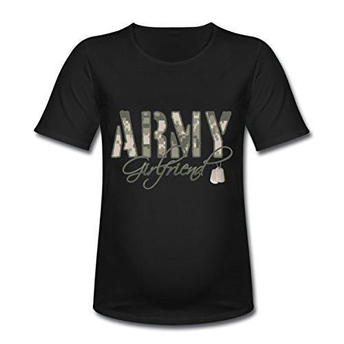 Spreadshirt Women'S Army Girlfriend - Dog Tags T-Shirt, Black, Xl
