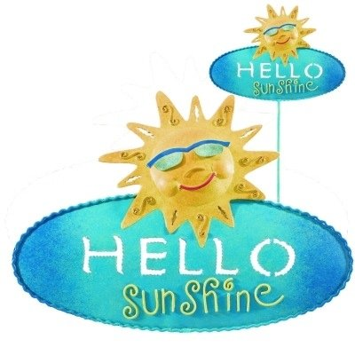 Welcome Sign Decorative Garden Stake - Sunshine by Regal Gift