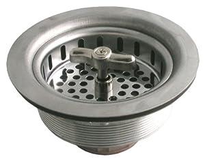 LDR 501 1400 Twist And Lock Kitchen Sink Strainer, Chrome