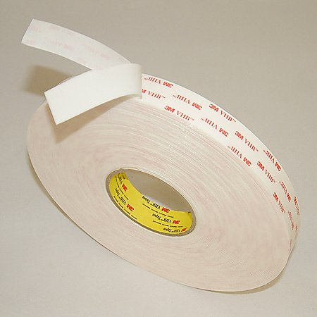 3M VHB Acrylic Foam Tape 4950 White, 1 in x 36 yd 45.0 mil [PRICE is per ROLL]