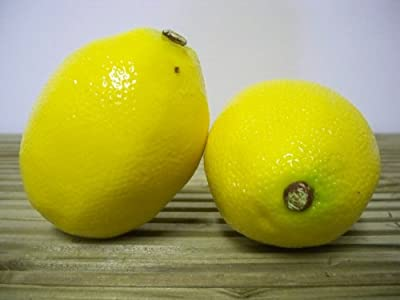 4 Large Artificial Lemons Fruit