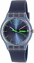 SWATCH SUON700 rebel blue dial silicone strap men watch NEW